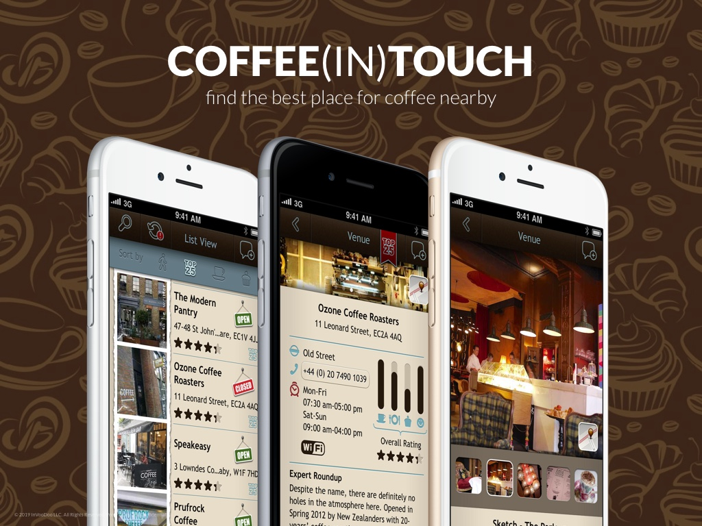 Coffee(In)touch – find the best place for coffee nearby