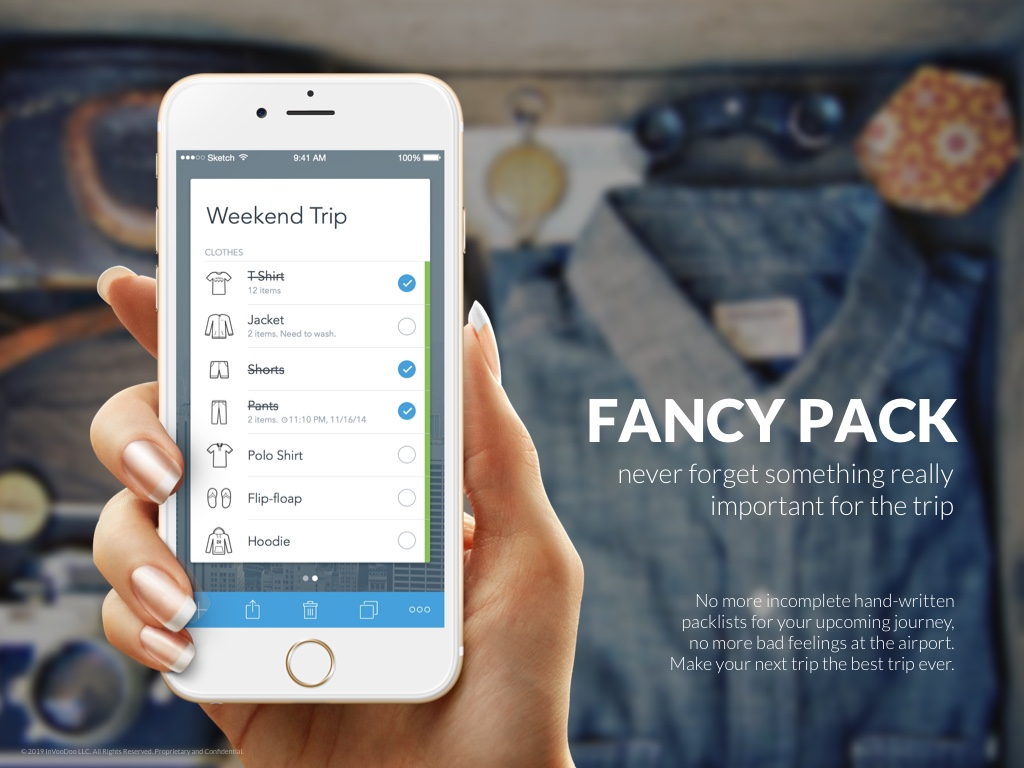 FancyPack – never forget something really important for the trip