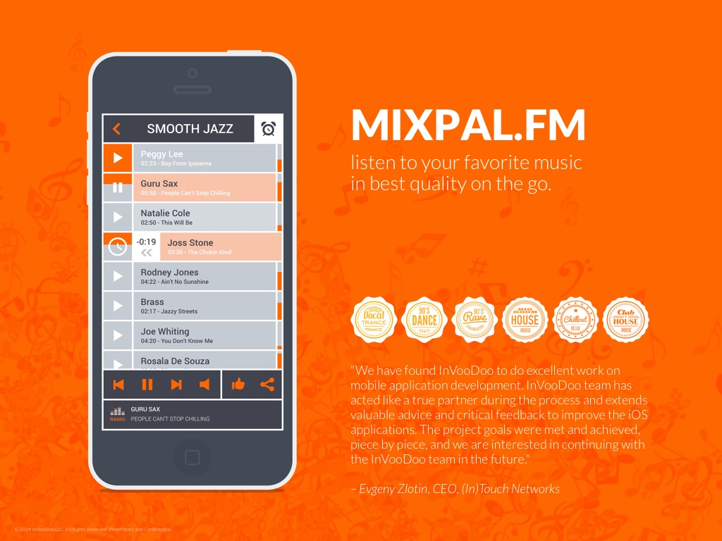 MixPal.fm – listen to your favorite music in best quality on the go.