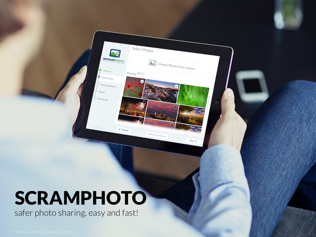 ScramPhoto iPad – safer photo sharing. easy and fast!