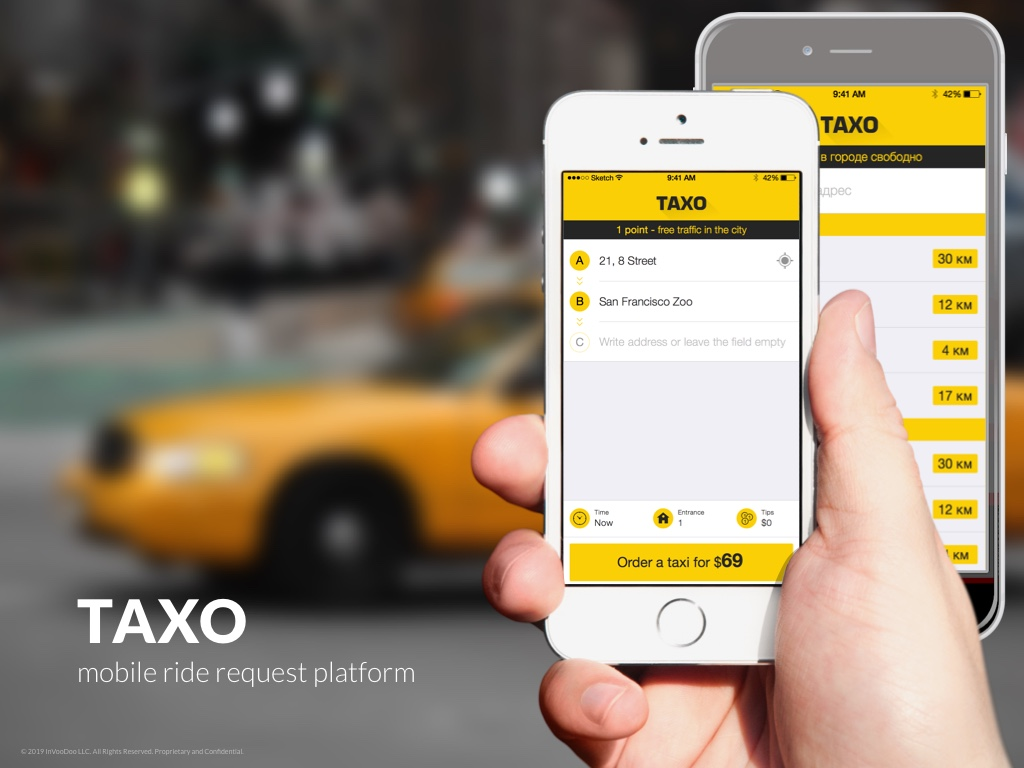 Taxo – mobile ride request platform