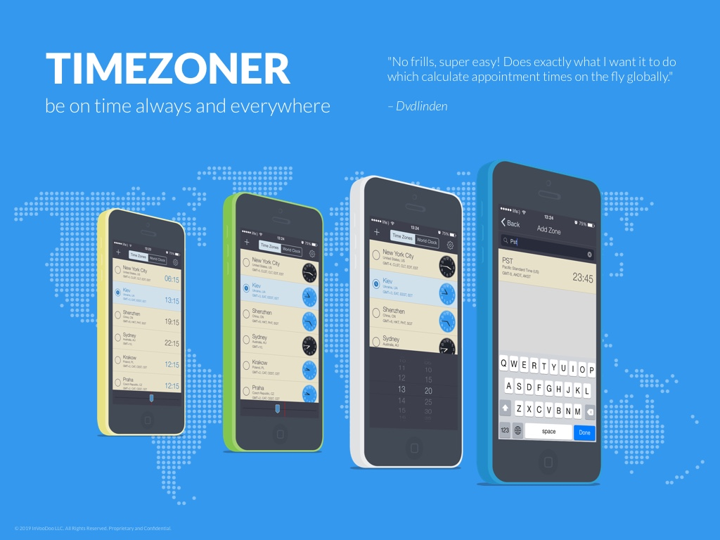 Timezoner – be on time always and everywhere